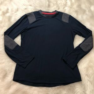Lululemon Sprint Shirt with Herringbone Patches